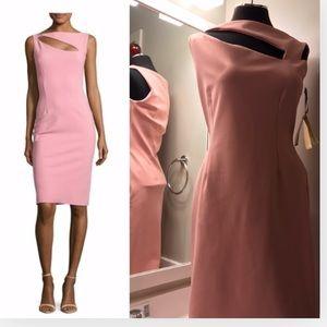 Chiara Boni La petit robe light pink cutout sheath